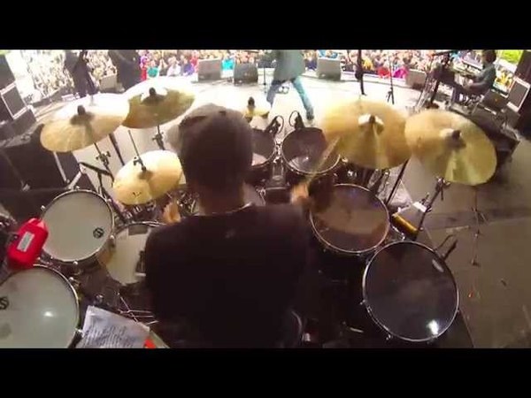 Pete Ray Biggin Drum Cam with level 42 in denmark 1.6.13 GoPro 3 Hero Black audio glitching problem