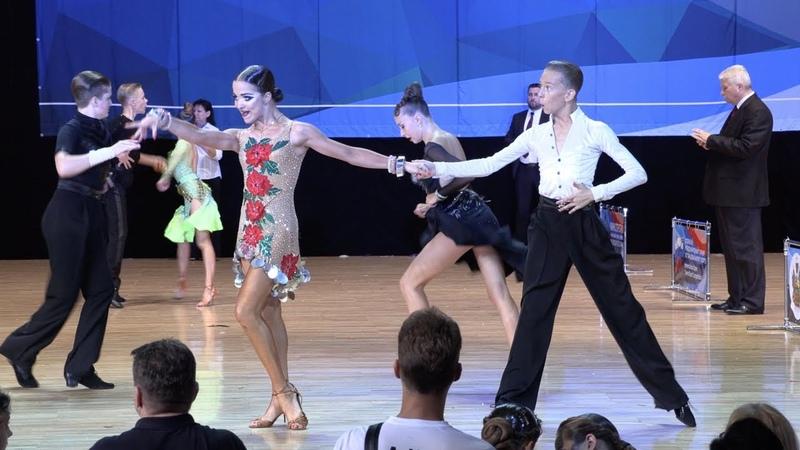 Шарковский Егор - Клименко Виталина, Cha-Cha-Cha   ВС Юниоры-2 Латиноамериканская программа