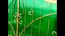 Ворота и калитка с элементами художественной ковки и поликарбонатом