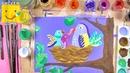 Как нарисовать птиц в гнезде урок рисования для детей от 4 лет рисуем дома поэтапно