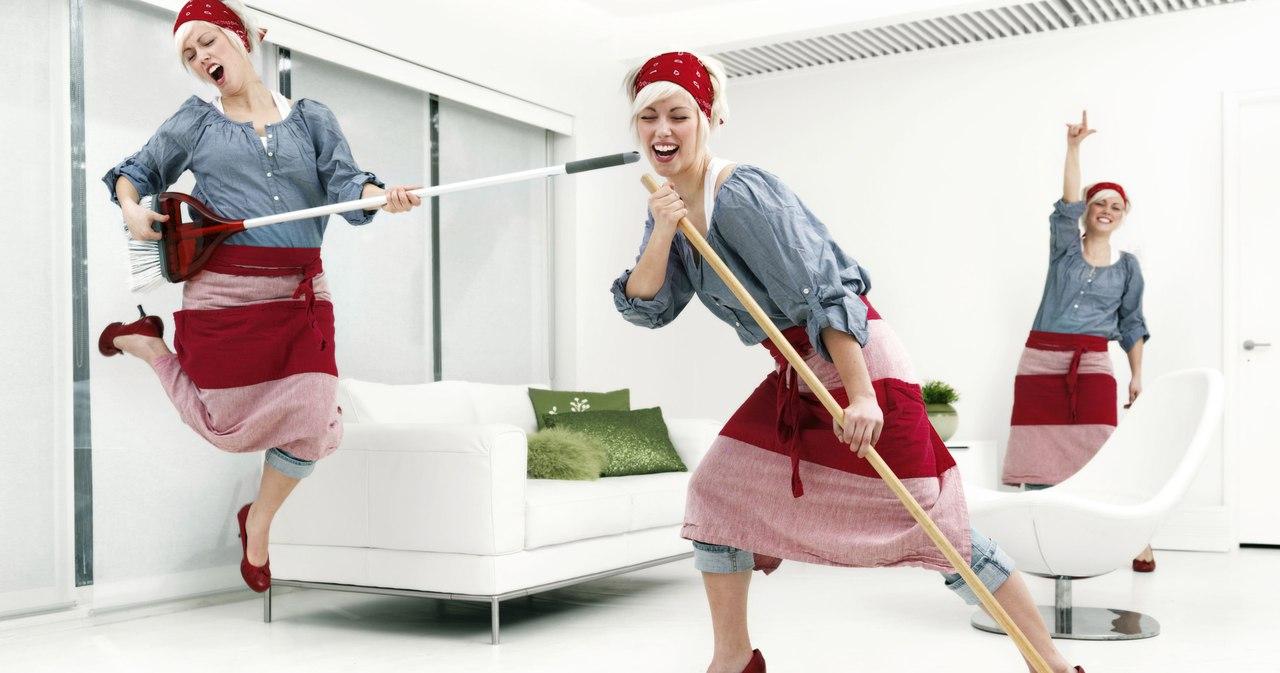 Смешная картинка уборка дома