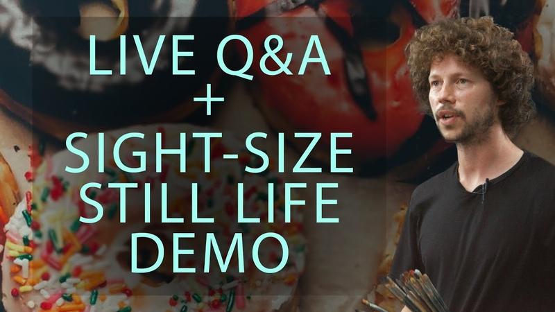 Live PremiereQA Sight-Size Still Life Painting Demo with Joe Altwer