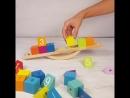 Весы балансир Радужные кубики