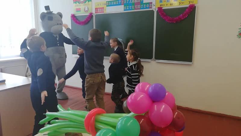 15.01.19 Мишка Тедди в Валавской школе Ельского района. Ребята повеселились на славу 🐻😊