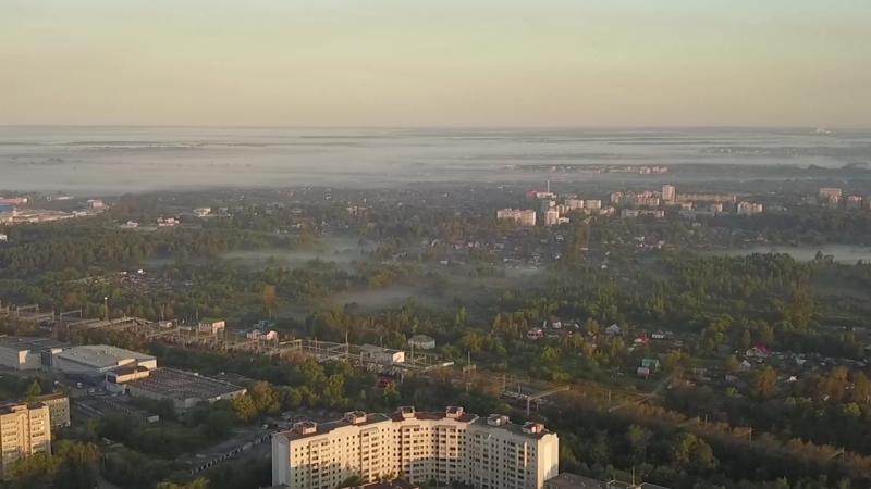 Рассвет над Ярославлем.