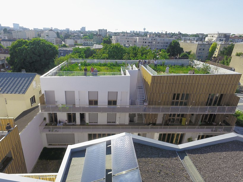 NZI architectes designs housing project with collective spaces and gardens in Paris