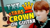 k-pop TXT CROWN (fingerstyle guitar cover with easy guitar tabs)