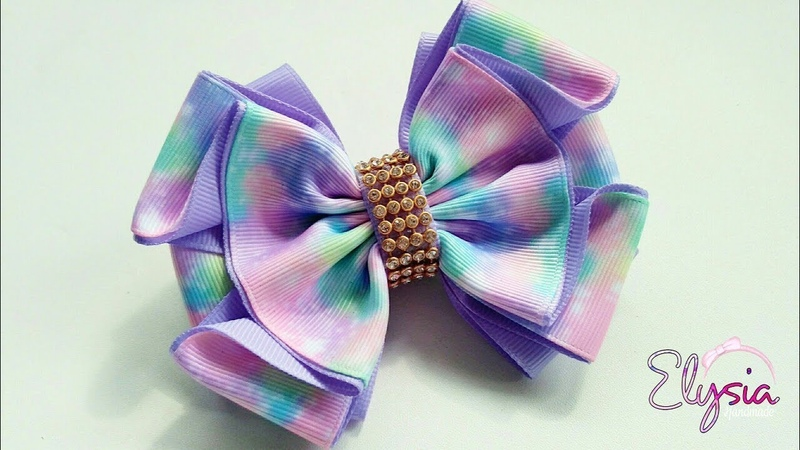 Laço Mallika II 🎀 Ribbon Bow Tutorial 🎀 DIY by Elysia Handmade
