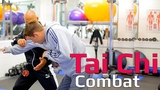 Tai chi combat tai chi chuan - tai chi Push hand attack with shoulder bump. Q23