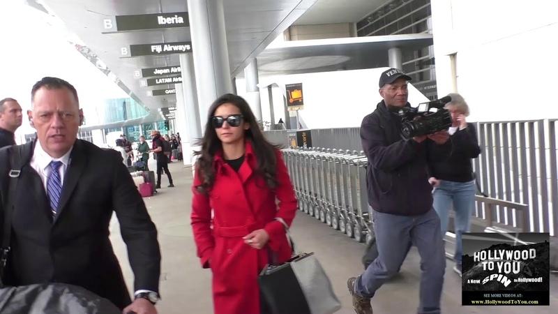 Nina Dobrev talks about Vampire Diaries season finally while departing at LAX Airport in Los Angeles