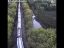 Обрушился мост в Айове грузовой поезд упал в реку