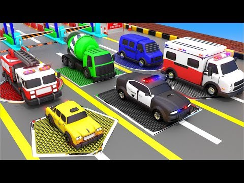 Street Vehicles Toys Color Changing with Shapes Water Pools to Learn Colors and Shapes for Kids