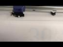 Печать наклеек на прозрачной плёнке в зеркале с ламинацией и резкой по контуру Поклейка с внутренней стороны стекла витрины