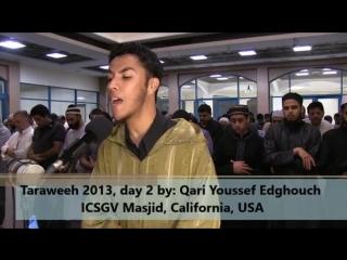 Superb Taraweeh 2013 - day 2 - Al-Baqara - USA - Qari Youssef Edghouch (ICSGV).mp4