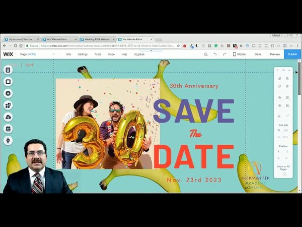 Save The Date Wedding Template from Wix - Web Design - Tutorial