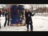 Женский рэп на митинге против насилия над женщинами в Санкт-Петербурге