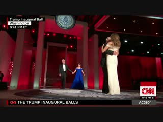 Donald and melania trump share first dance