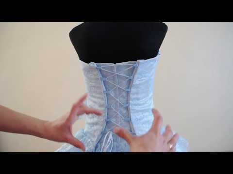 Как правильно зашнуровать корсет? Детское нарядное бальное пышное платье на корсетной утяжке