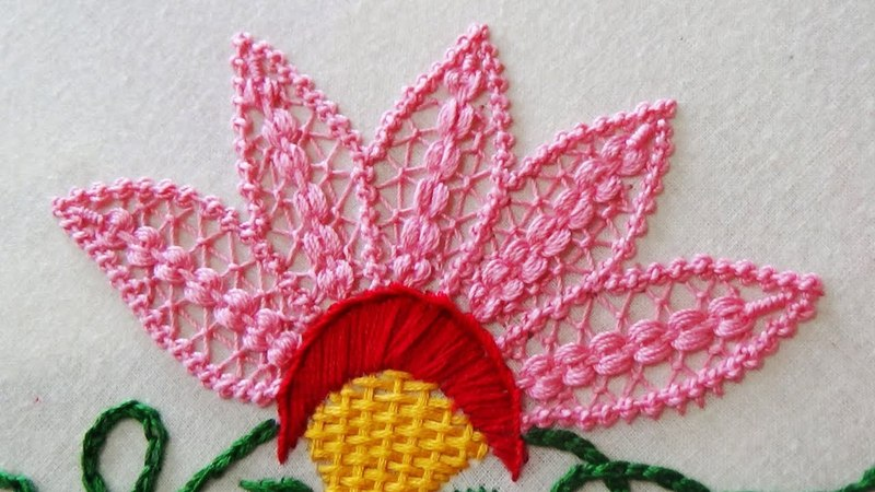 Hand Embroidery Flower Stitch