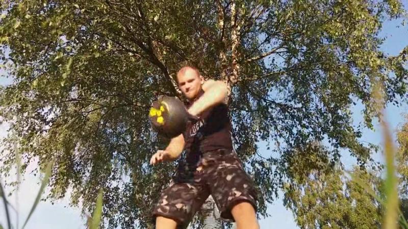 Жонглирование гиря 32кг
