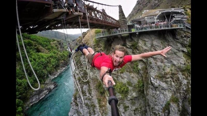 Bungee jumping Прыжки с моста, скалы...