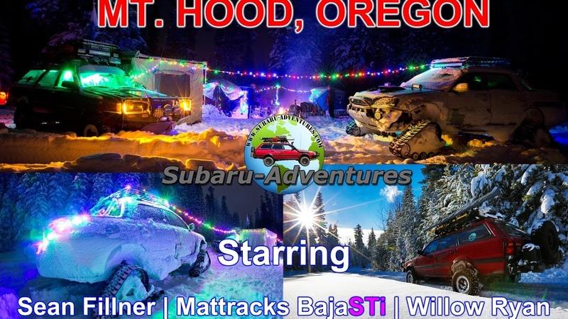 Subaru-Adventures.com   ADF   Mattracks BajaSTi   Winter on Mt. Hood Oregon