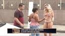Gata faz striptease no farol para descolar uma graninha e mulherada fica furiosa