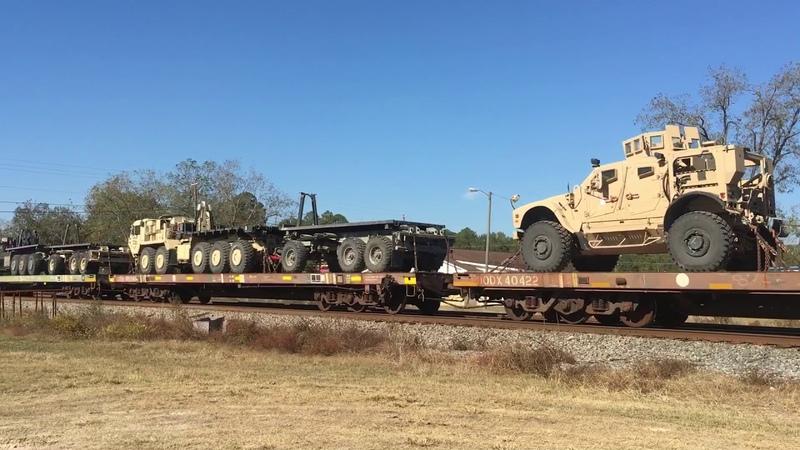 Military Train meets a huge Q512 at Ambrose