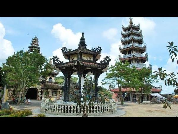224 Вьетнам Храм ЛИНЬ ФУОК храм ИЗ БИТОЙ ПОСУДЫ ШЕДЕВР Vietnam Linh Phuoc Pagoda MASTERPIECE