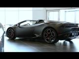 Delivery of Lamborghini Huracan 610-4 Spyder Nero Nemesis
