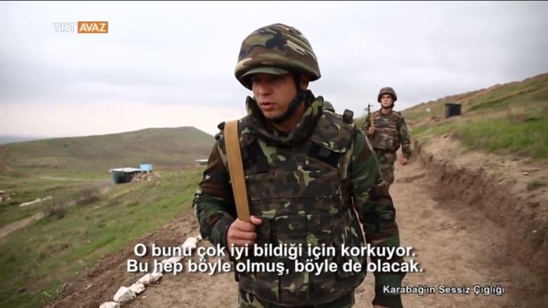 Eller Tetikte Karabağ Sınırındaki Azerbaycan Askerleri TRT Avaz