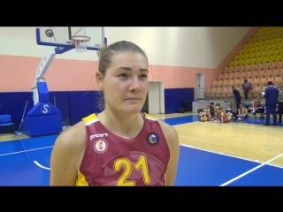 Ксения Чинаева после первого матча с