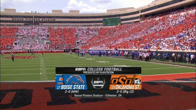 NCAAF 2018 / Week 03 / (17) Boise State Broncos - (24) Oklahoma State Cowboys / 1Н / EN