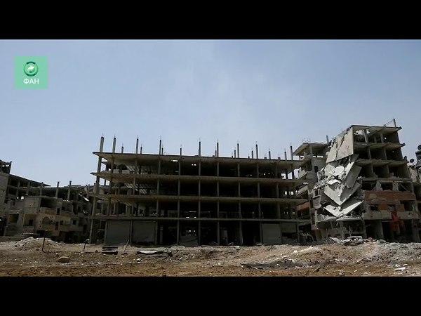 Сирия: бойцы «Лива Аль-Кудс» обстреливают ИГ в районе Хаджар Аль-Асвад в Дамаске — видео ФАН