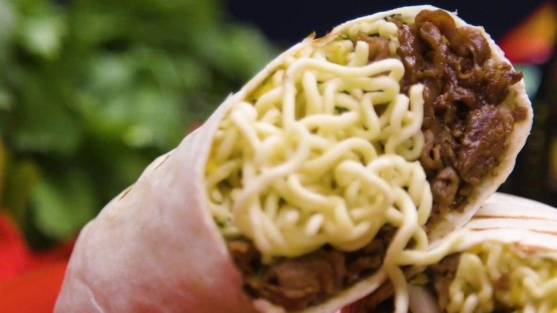 Shin Black Ramyun Burrito