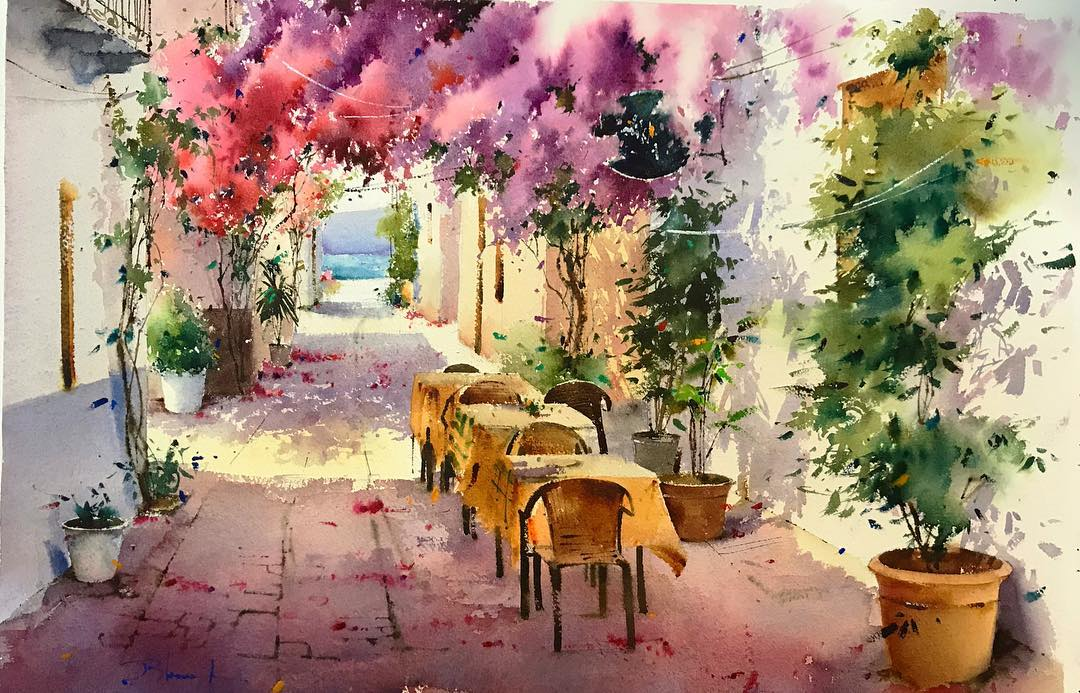 Blanca Alvarez #watercolor #акварель