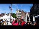 1 мая главная площадь Антверпена Antwerpen - főtere május 1- én