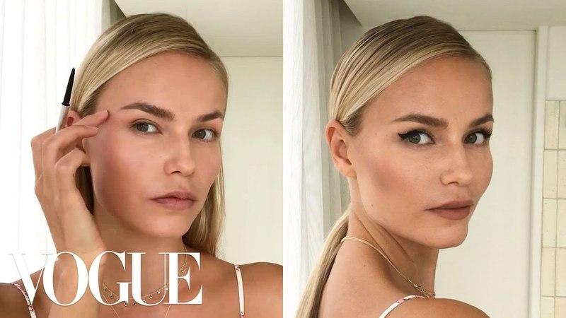 Supermodel Natasha Polys 3-Step Perfect Cat-Eye   Beauty Secrets   Vogue