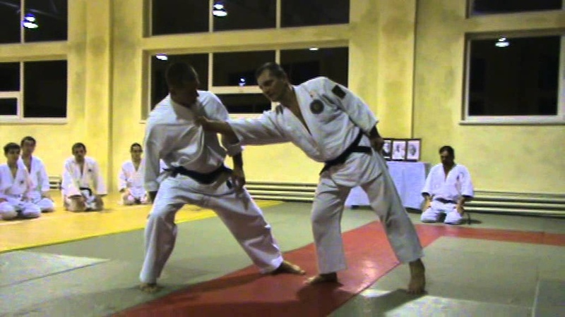 Мотоха Йошин рю Дзю Дзюцу. ката ері мочі - коте орі. (Jiu Jitsu seminar)