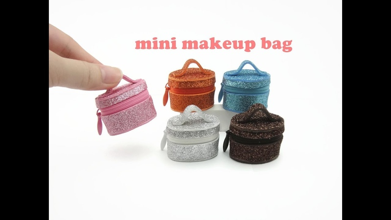 DIY Miniature Doll Mini Makeup Bag