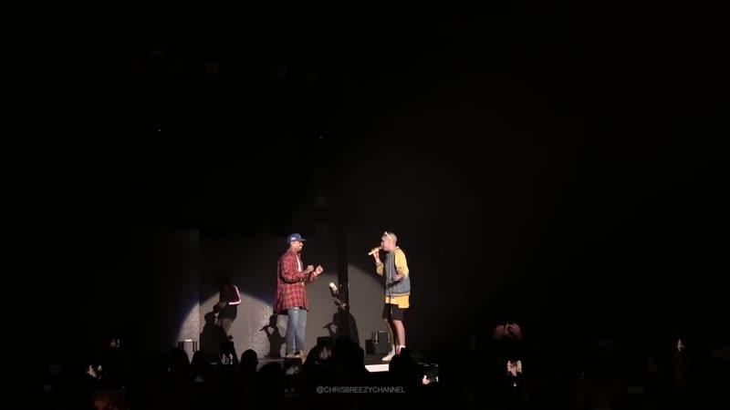 Chris Brown Bad Bunny dancing to Krippy Kush (La Nueva Religion Tour)