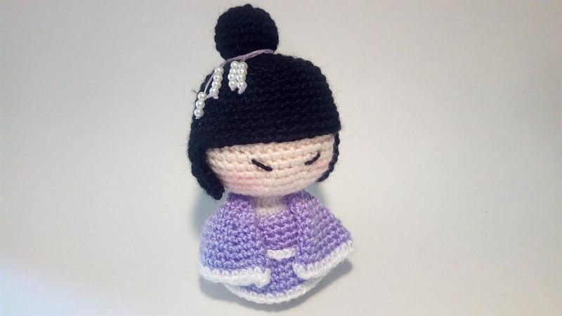 Geisha Amigurumi - Uncinetto Tutorial Crochet