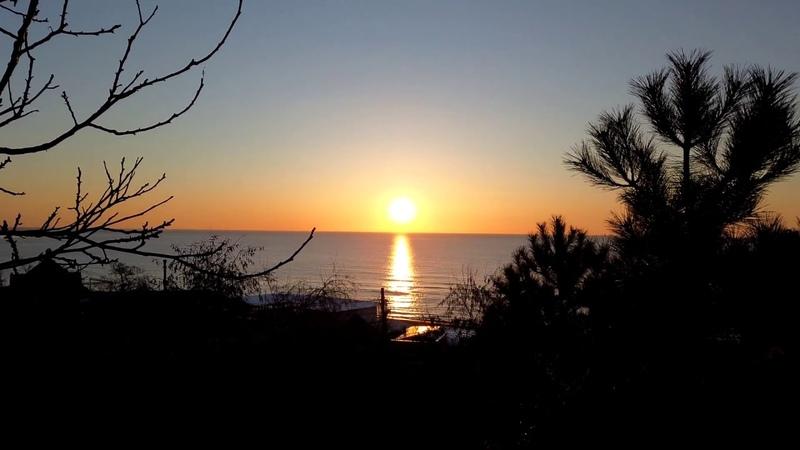 Утро в Черноморские Ильичевске, восход солнца...17.03.2018