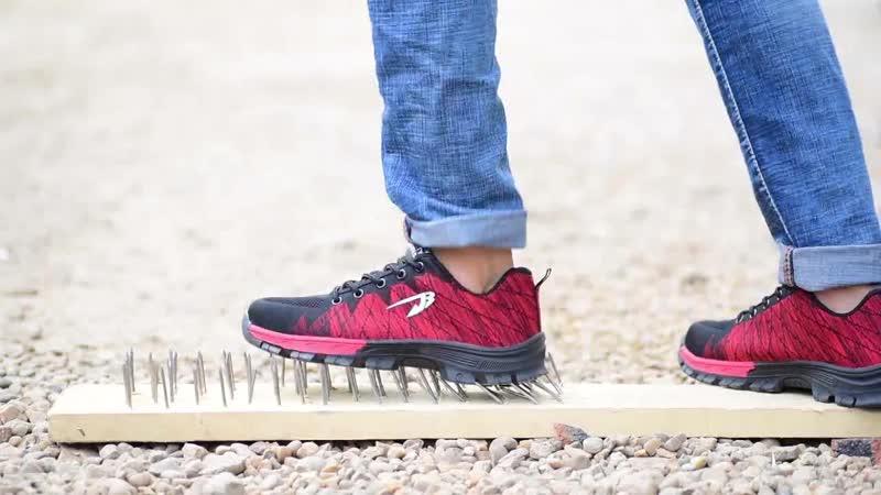 Мужская Рабочая обувь с дышащей сеткой и стальным носком