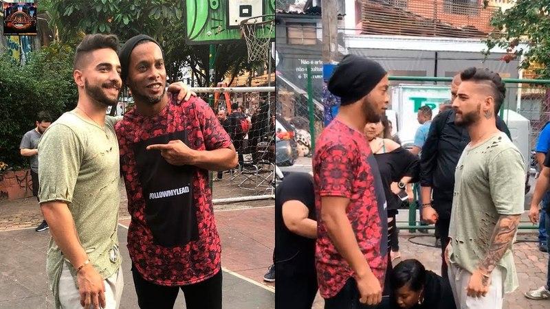 Maluma graba el vídeo de Corazon junto a Ronaldinho