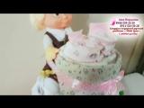 Торт из памперсов для родителей девочки