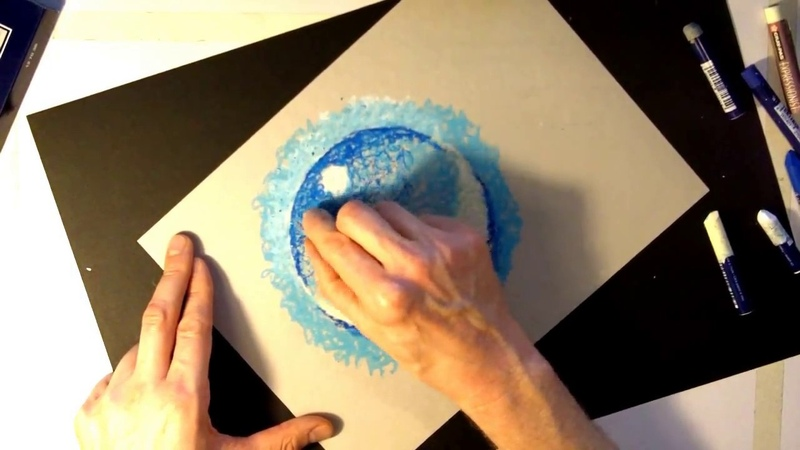 Basic Oil Pastel Techniques : Water Droplet : Rule of 3's TUTORIAL
