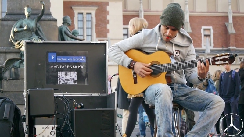 Imad Fares - Awesome street guitar performance (HD)