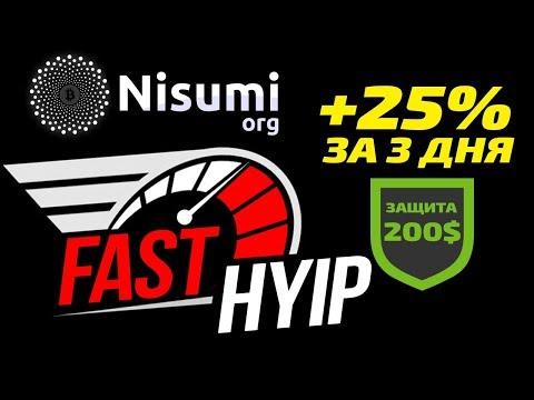 ОБЗОР NISUMI ORG - НОВЫЙ ФАСТ! БЫСТРЫЙ ЗАРАБОТОК 125% ЗА 3 ДНЯ!