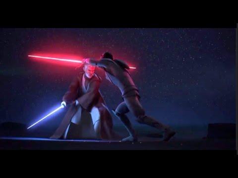 ★ Obi Wan VS Darth Maul Maul's Death FULL BATTLE Star Wars Rebels S3Ep20 Twin Suns